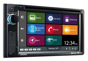 "Clarion NX387AU 6.2"" 2-DIN AV Receiver w/ Built-In Navigation/BT/DVD/CD/USB/AUX"