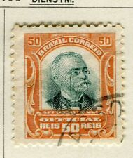 BRAZIL; 1906 early Penna Official issue fine used 50r. value