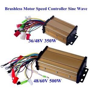 US 36/48V 350W 48/60V 500W Sine Wave Brushless DC Motor Speed Controller