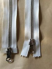 62cm Double Ended Jacket Zip Zipper Pale Cream (#268)