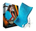 MIGHTY BLISS Large Electric Heating Pad, Back Pain Cramps Relief Blue 12x24