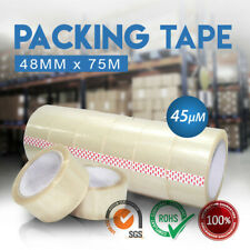 Heavy Duty Packing Tape Packaging Clear Sticky Sealing Tape 48mm 75M Transparent
