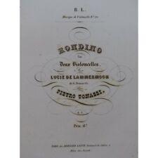 TONASSI Pietro Rondino sur Lucie de Lammermoor 2 Violoncelles ca1840 partition s