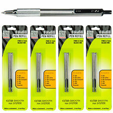 Zebra F-701 Ballpoint Pen, Black Ink 0.7mm With 4 Packs 85512 F Refills
