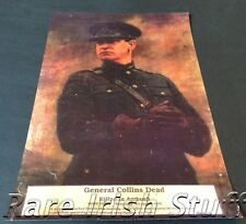 Michael Collins In  Military Uniform - 1922 Irish Newspaper Death Tribute Print
