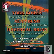 York Bowen, Alan Bush & Havergal Brian CELLO CONCERTOS - CDLX7263