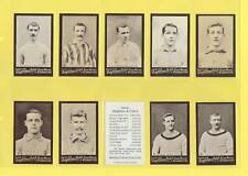 SINGLETON & COLE - SET OF 50 FOOTBALLERS        (REPRO)