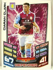 Match Attax 2012/13 Premier League - #022 Ciaran Clark - Aston Villa
