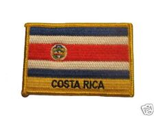 Costa Rica Embroidered Flag patch -Iron on or Sew