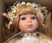 New Marie Osmond Porcelain Doll Michelle Musical Limited Edition Doll Stand COA