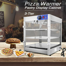 3 Tier Commercial Food Pizza Warmer Countertop Cabinet Display Stainless Steel