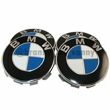 Genuine BMW Alloy Wheel Hub Centre Caps Badges Set 68mm 10 Pin 1 3 5 Series X1