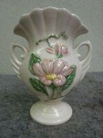 "Vintage Hull Art Pink Flower Vase ""H-6-6 1/2"""