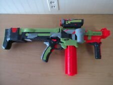 NERF VORTEX NITRON ELECTRIC DART DISC SHOOTER TOY GUN, SCOPE, CARTRIDGE, 4 DISCS