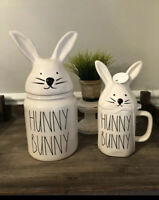 "New RAE DUNN Easter LL ""HUNNY BUNNY"" Canister & Mug By Magenta - Larger Size"