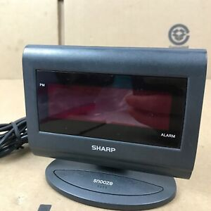 Sharp Model No.SPC060 Digital Red Medium Number Display Alarm Clock 2.A1