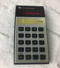 Vintage LED calculator TEXAS INSTRUMENTS TI-1000 School Home Work