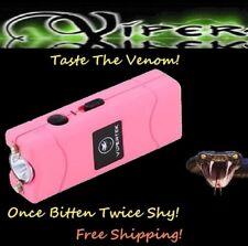 Viper Pink 2900 Million volt Rechargeable Stun Gun LED light with taser Holster