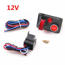 Universal 12V Racing Car Engine Toggle Start Push Button Ignition Switch Panel