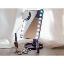 Touch LED Light Illuminated Make Up Cosmetic Vanity Mirror with Zoom - In UK
