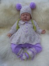 i*believe*in*angels FRIDAY'S CHILD 4 PCE LILAC SET FOR A NEWBORN/REBORN BABY
