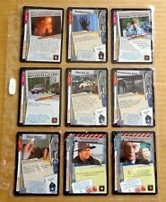 THE X-FILES PREMIERE EDITION CCG/TCG SLEEVE OF 9 x UNCOMMON CARDS  NEW/1996  (J)