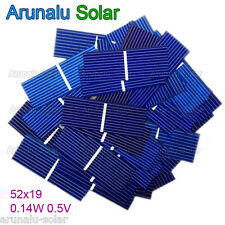 100pcs 52x19 mm Solar Cell Battery Charger Poly Solar Mini Panel Car Toys DIY