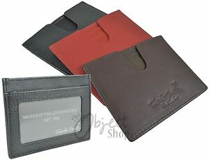Charles Smith Quality Leather Credit Card Slip Travel Card Holder Wallet ID Pass