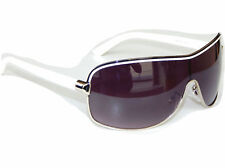 Pilotenbrille Sonnenbrille Pornobrille Weiß Silber Retro Fliegerbrille M 7