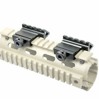 2 PACK 45 Degree Angled Offset Side Rail Scope Accessory Backup Sight Mount PLY