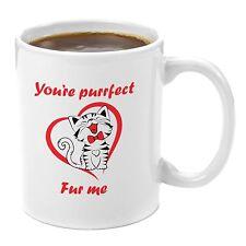 Gift Mug Coffee Tea You're Purrfect Fur Me Premium 11 oz white Ceramic Gift Box