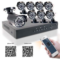 8CH CCTV DVR 1080N IR Cut 720P Night Vision Outdoor Security Camera System