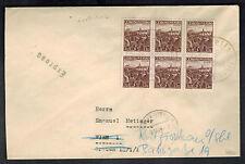 1938 Lobositz Germany Sudetenland Provisional Express MAil Cover to Vienna