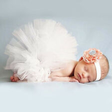 Baby Bowknot Tutu Skirt & Headband Photography Prop Costume Fancy Decoration