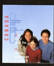 CANADA BOOKLET: WORLD YOUTH DAY, BK261b, UC#1957, 2001, 48c, 8 STAMPS