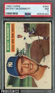 1956 Topps #340 Mickey McDermott New York Yankees PSA 7 NM