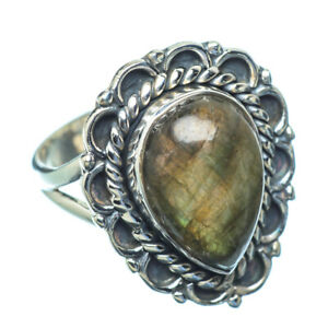 Labradorite 925 Sterling Silver Ring Size 6.25 Ana Co Jewelry R10540F
