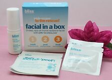 BLISS TRIPLE OXYGEN TO THE RESCUE! FACIAL IN A BOX WITH CPR TECHNOLOGY SET OF 3