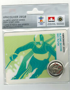 2008 ALPINE SKIING COLOURED 25 CENT MULE COIN ORIGINAL PETRO CANADA PACKAGING!!!