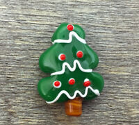10pcs exquisite handmade Lampwork glass beads Christmas Tree 20*30mm