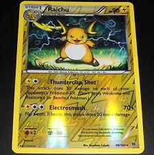 Raichu 49/162 XY Breakthrough REVERSE HOLO Pokemon Card NEAR MINT