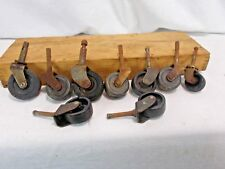 LOT OF ASSORTED VINTAGE METAL FURNITURE CASTER RUBBER WHEELS STEAMPUNK