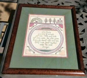 Framed 18 X 22 Scherenschnitte (Scissor Cut) 1992 Eavenson Folk Art - Our Family