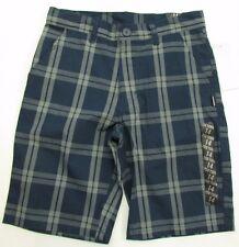 Zoo York Shorts Boys Size 14 nwt navy plaid Unbreakable