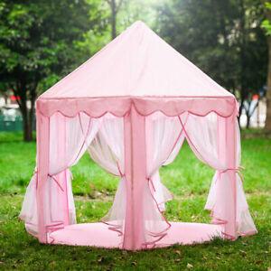 Children Kids Play Tent Princess Girls Boys Hexagon Playhouse House Gift Indoor