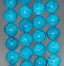 15MM TURQUOISE BLUE JASPER GEMSTONE ROUND LOOSE BEADS 7.5""