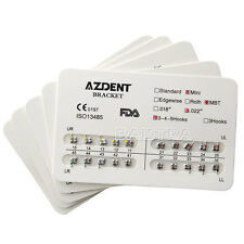 "10x Dental Ortho Orthodontic Metal Brackets Brace Mini MBT 022"" 345Hooks AZDENT"