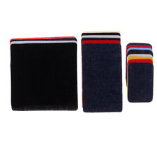 CLEARANCE Thick Sew On Vinyl Repair Patch Oval Navy Blue Heavy Duty Coat Jacket