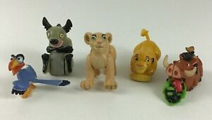 The Lion King Burger King Figures Toys 5pc Lot Pumbaa Zazu Hyena Ed Vintage 1994