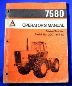 1978 ALLIS CHALMERS 7580 DIESEL TRACTOR Original OPERATORS MANUAL Book Guide